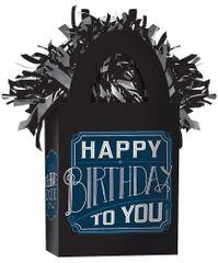 Mini Tote Balloon Weight - Happy Birthday Man