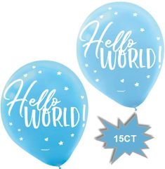 Oh Baby Boy Latex Balloons, 15ct
