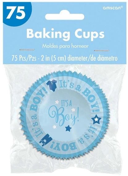 Baby Shower Cupcake Cases - Boy