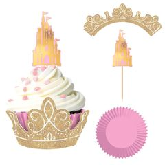 ©Disney Princess Glitter Cupcake Kit, 24ct