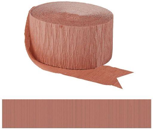 Fringe Crepe Streamer - Rose Gold, 81ft