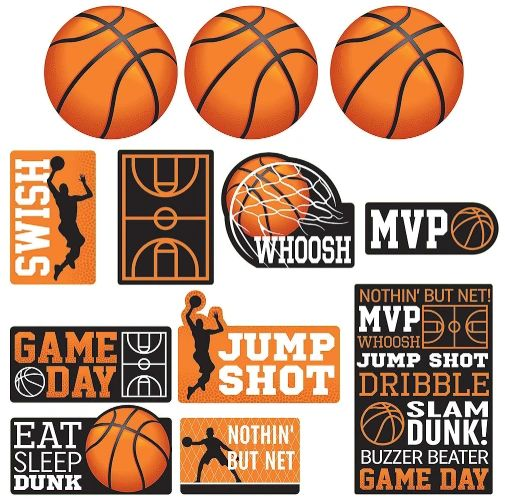 Nothin' But Net Value Pack Cutouts, 12ct