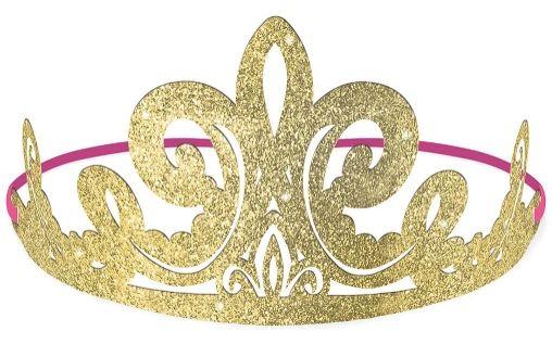 ©Disney Princess Glitter Paper Tiaras, 8ct