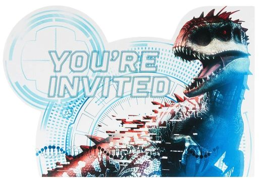 Jurassic World™ Postcard Invitations, 8ct