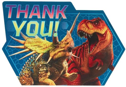 Jurassic World™ Postcard Thank You, 8ct