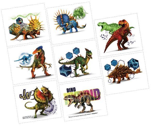 Jurassic World™ Tattoos, 8ct