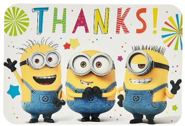 Despicable Me™ Postcard Thank You, 8ct