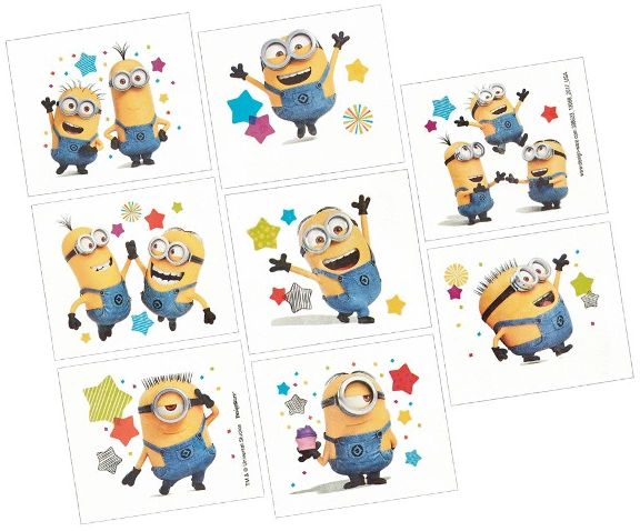 Despicable Me™ Tattoos, 8ct