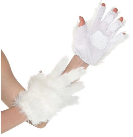 White Furry Gloves - Cat or Unicorn