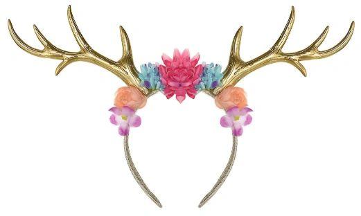 Deer Floral Deluxe Headband