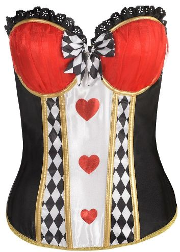Red Queen Corset - Adult S/M or M/L