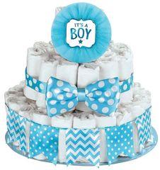 Baby Shower Deluxe Diaper Cake Kit - Boy