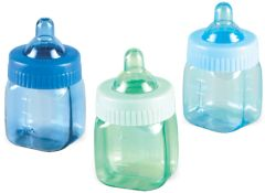 Baby Bottle Favor Blue-Multi, 6ct