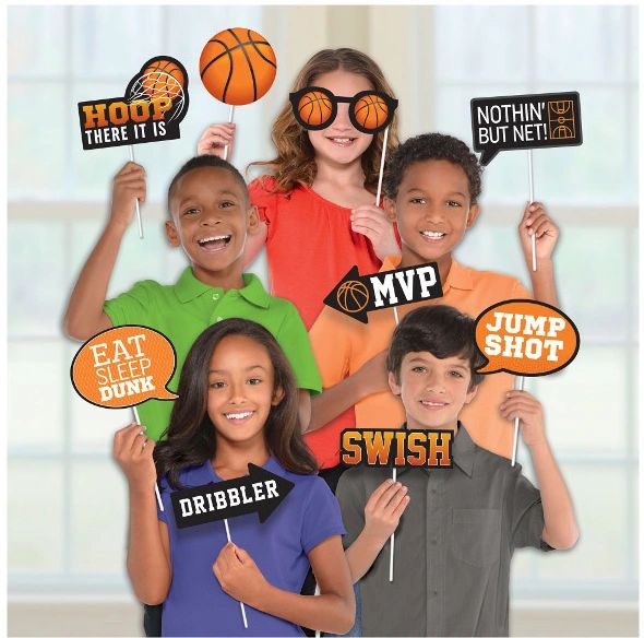 Basketball Photo Props, 14ct