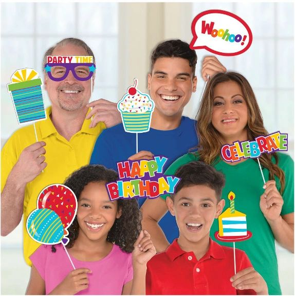 Photo Props - Rainbow Birthday, 13ct