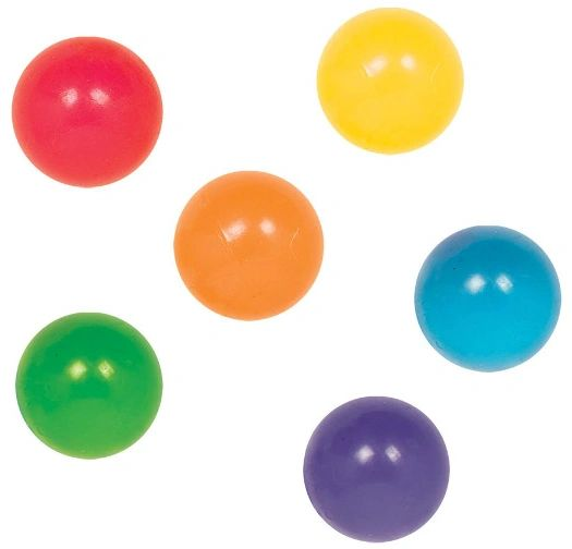 Neon Icy Bounce Balls - Packaged, 6ct