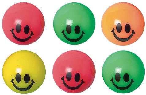 Smile Bounce Balls, Packaged, 6ct