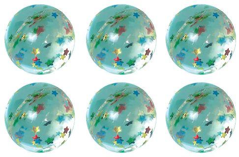 Star Glitter Bounce Balls, Packaged, 6ct