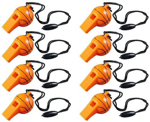 Basketball Whistles, 8ct