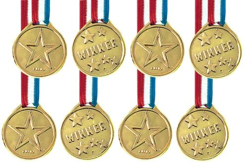Goal Getter Award Medals, 8ct