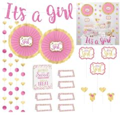 Baby Shower Buffet Decorating Kit - Girl, 23pc