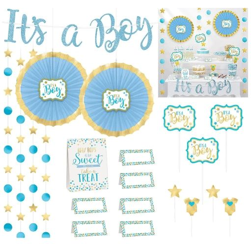 Baby Shower Buffet Decorating Kit - Boy, 23pc