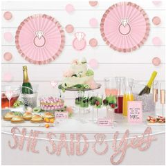 Blush Wedding Buffet Table Decorating, 23pc