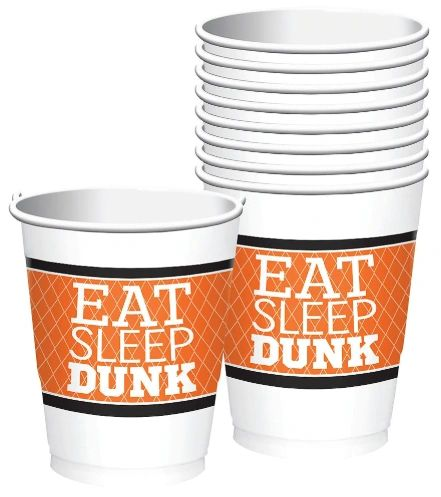 Nothin' But Net Plastic Cups, 16oz - 8ct