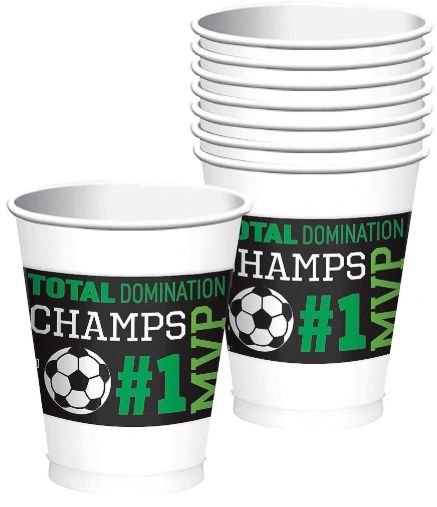Goal Getter Plastic Cups, 16oz - 8ct