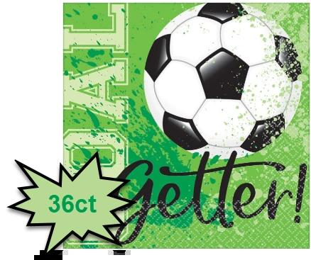 Goal Getter Soccer Beverage Napkins, 36ct