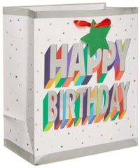3-D Birthday Medium Bag w/ Gift Tag