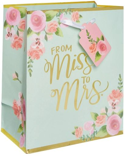 Mint To Be Wedding Medium Bag w/ Gift Tag