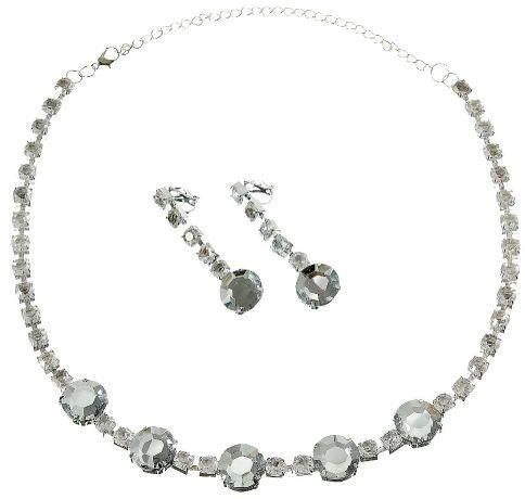 Rhinestone Jewelry Set, 3pc