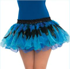 Blue Feather Belt - One Size Fits Most