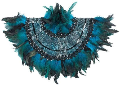 Peacock Feather Collar - Adult