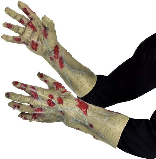 Zombie Sculpted Hands - Adult