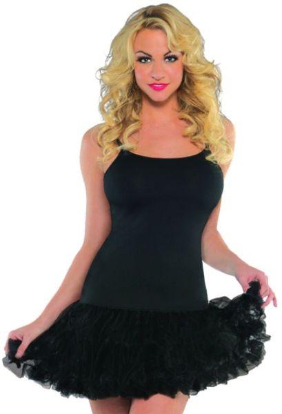 Black Petticoat Dress - Adult S/M or M/L