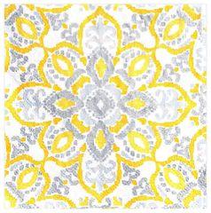 Yellow Tile Beverage Napkins, 16ct
