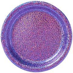 "New Purple Prismatic Desssert Plates, 6 3/4"" - 8ct"