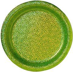 "Kiwi Round Prismatic Lunch Plates, 8 1/2"" - 8ct"