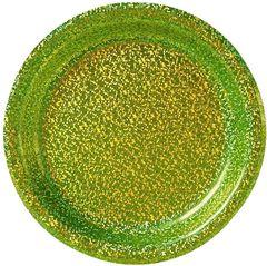 "Kiwi Round Prismatic Dessert Plates, 6 3/4""- 8ct"