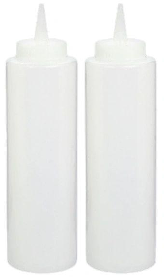 Plastic Condiment Bottles - Clear, 2ct