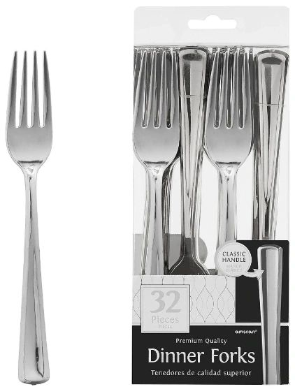 Premium Forks - Stainless Silver, 32ct