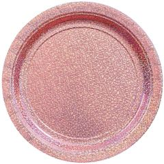 """Round Prismatic Lunch Plates - New Pink, 9"""" - 8ct"""