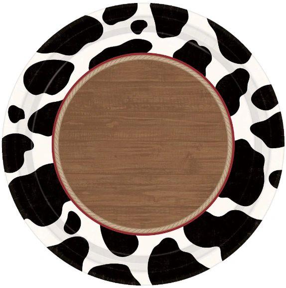 "Yeehaw Round Dinner Plates, 10 1/2"" - 8ct"