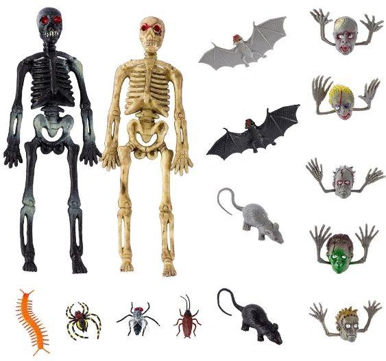 Halloween Creepy Crawly Plastic Super Mega Mix Favors, 100pc