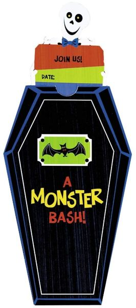 Monster Bash Novelty Invitations, 8ct