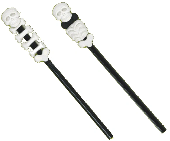 Stackable Skeleton 3-D Eraser w/Pencil