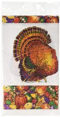 Autumn Turkey Paper Table Cover