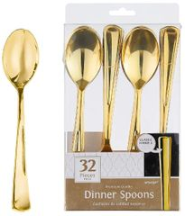 Dinner Spoons - Gold, 32ct